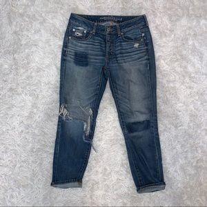 AEO Boy Crop hi rise button up jeans